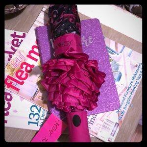 Betsy Johnson umbrella in rococo pink